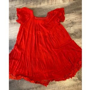 Red umgee dress